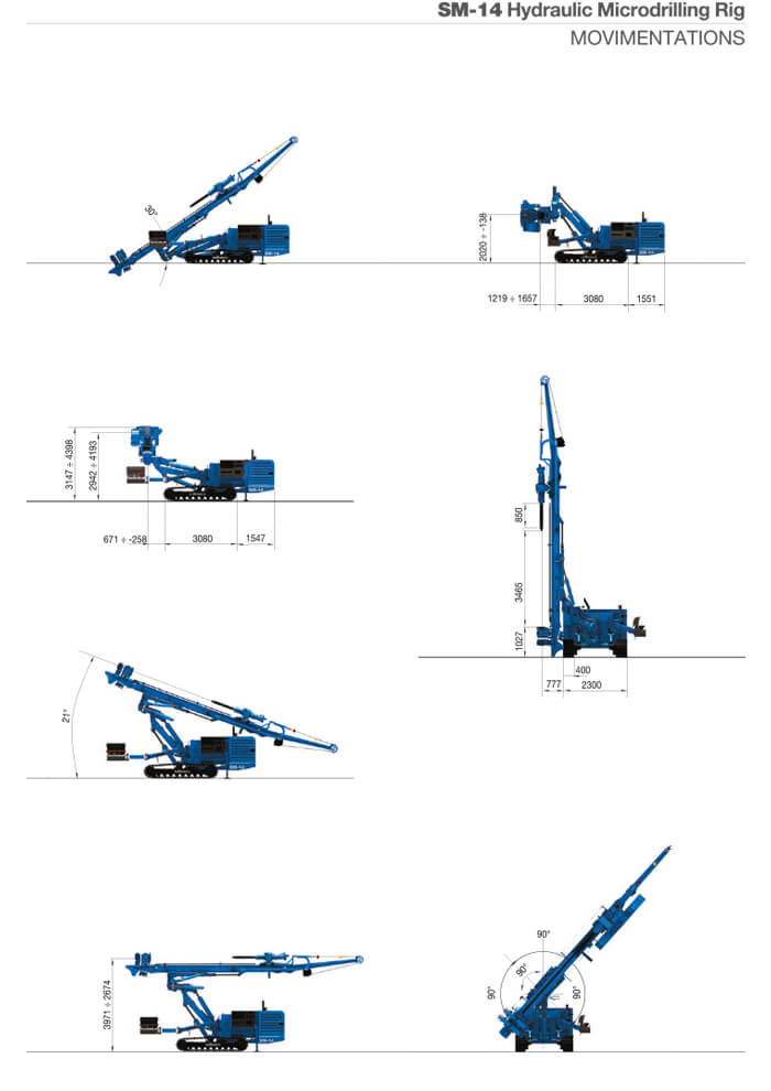 Noleggio macchina da micropalo e jet grouting Soilmec SM 14